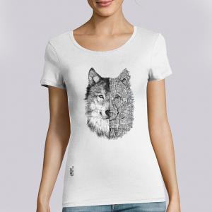 T-shirt femme Ardif : Wolf mechanimal big