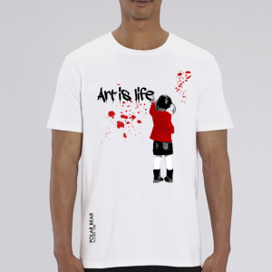 T-shirt homme Polar Bear : art is life big