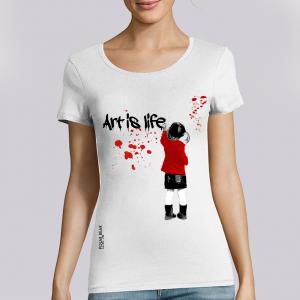 T-shirt femme Polar Bear : art is life big