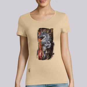 T-shirt femme Ardif : Seahorse Mechanimal big