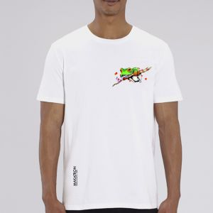 T-shirt homme Makatron : Ash Frog small