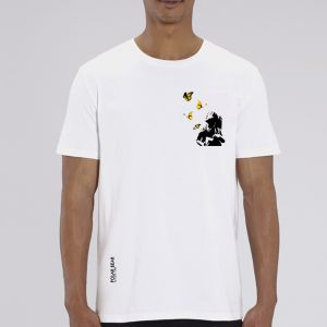 T-shirt homme Polar Bear : Kid and Butterflies small