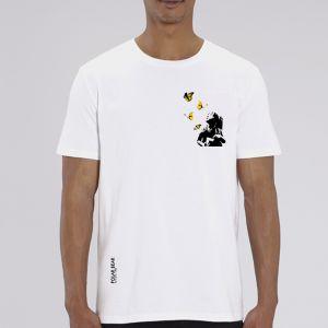 T-shirt homme Polar Bear : Kid and Butterflies small