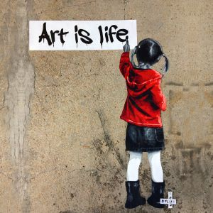 Sweat enfant Polar Bear : Art is Life big