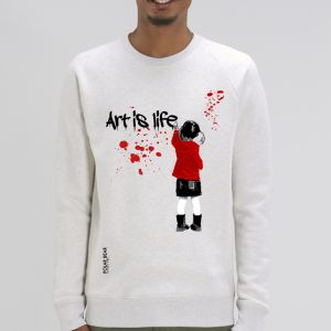 Sweat Homme Polar Bear : art is life big