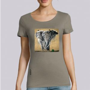 T-shirt femme Makatron :  Elephant warehouse big