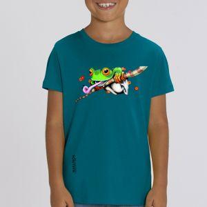 T-shirt enfant Makatron : Ash Frog big