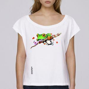 T-shirt femme Makatron : Ash Frog big