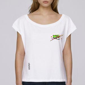 T-shirt femme Makatron : Ash Frog small