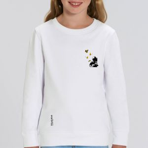 Sweat enfant Polar Bear : Kid and Butterflies small