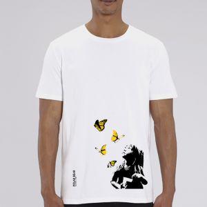 T-shirt homme Polar Bear : Kid and Butterflies big