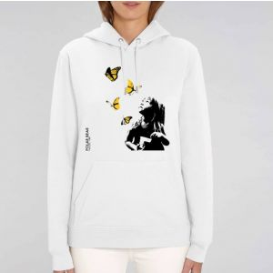 Sweat Femme Polar Bear : Kid and Butterflies big