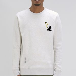 Sweat Homme Polar Bear : Kid and Butterflies small