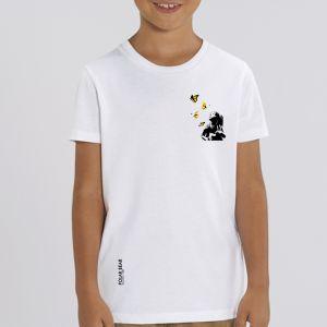 T-shirt enfant Polar Bear : Kid and Butterflies small