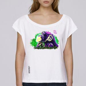 T-shirt femme Makatron : Monkey Brains big