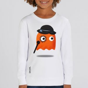 Sweat enfant Oak Oak : Orange Ghost Revenge big