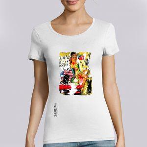 T-shirt Femme VERO CRISTALLI: Pin Up big