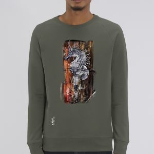 Sweat Homme Ardif : Seahorse Mechanimal big