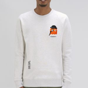 Sweat Homme Oak Oak : Orange Ghost Revenge small