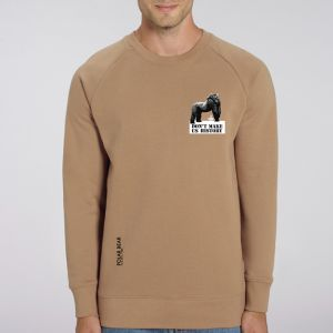 Sweat Homme Polar Bear : Gorille don't make us history small