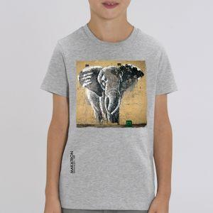 T-shirt enfant Makatron :  Elephant warehouse big
