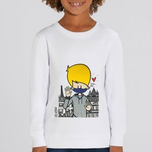 Sweat enfant Jo Little : Jo Take care big