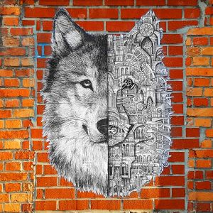 T-shirt homme Ardif : Wolf mechanimal big